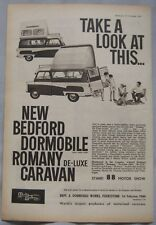 1962 Bedford Dormobile  Camper van Original advert No.1