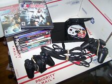 PLAYSTAION  2 CONSOLE  SLIM   BUNDLE - WITH 17 GAMES - ALL CORDS- TESTED WORKING