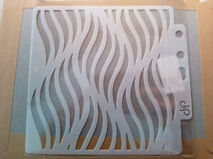 Stencil Layering Card making Scrapbooking wave flame pattern UK Seller Fast post