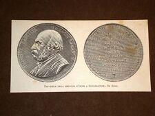 Fac simile della medaglia d'onore a Giovanbattista De Rossi del 1883
