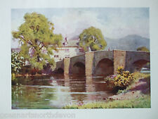 ANTIQUE PRINT DATED 1908 SWAN INN NEWAY BRIDGE ENGLISH LAKES BY A HEATON COOPER