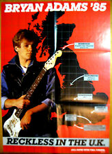 Bryan Adams '85 Reckless In The Uk Vintage Tour Poster 24x36 2-fold Near Mint