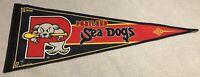 "Vintage WinCraft MLB Portland Sea Dogs 29 1/2"" x 12"" Rare Pennant 2002"