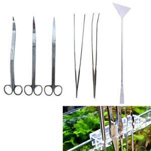 Aquarium Scissor Tweezers Tool Stainless Steel Set Aquatic Plants Maintenance
