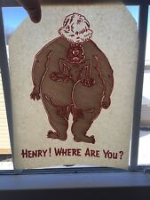 Vintage Henry Butt Funny Iron On Transfer