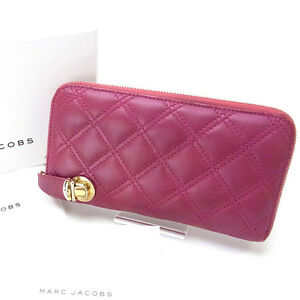 Marc Jacobs Wallet Purse zipper wallet Pink Woman Authentic Used Y124
