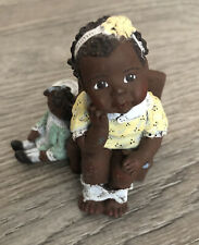 "Sarah'S Attic ""Me Big Girl� Black Girl W Doll Sitting On Potty Toilet 917/3000"