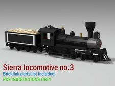 sierra Locomotive no.3 CUSTOM INSTRUCTIONS ONLY for Lego bricks