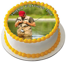 FISHING 7.5 PREMIUM Edible ICING Cake Topper CAN PERSONALISED D3