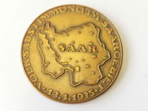 """""""Deutsch die Saar immerdar"""" Bronzene Erinnerungsmedaille an die Volksabstimmung"""