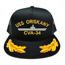CUSTOM MAKE USS ORISKANY CVA-34 SCRAMBLED EGGS YUPOONG CAP HAT
