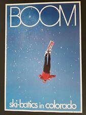 VINTAGE 1960s BOOM COLORADO SKI-BATICS POSTER  ORIGINAL SNOW SKI 60's SKIER SKIS