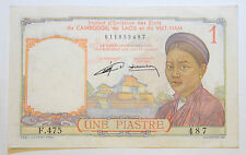 Cambodia, Laos, Vietnam: 1 Piastre in XF+ CONDITION. F.475 487 011855487.