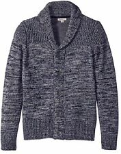 Calvin Klein NEW Navy Blue Mens Large L Shawl Collar Cardigan Sweater $118 #918