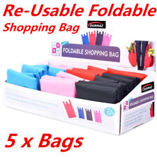 5 x Fold-able Waterproof Reusable Shopping Storage Bags Handbags Grocery Bag ddd