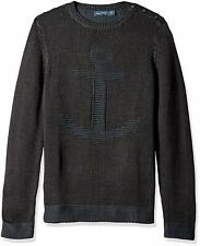 Nautica Men's Anchor Sweater Black Medium 100% Cotton
