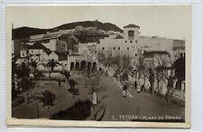 (Ga2836-100) Real Photo of TETOUAN, Plaza de Espana, Morocco c1930 EX