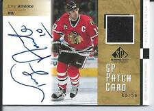 Tony Amonte 01/02 SP Game Used #SP-TA Jersey Patch Autograph SP Insert  /50