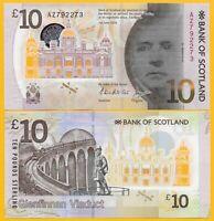 Scotland 10 Pounds p-131 2016 Bank of Scotland UNC Polymer Banknote
