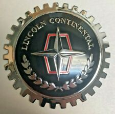 Indoor/Outdoor Lincoln Continental Badge/Emblem- Adhesive Backed- Chromed Brass