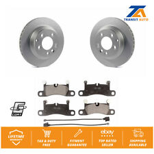 Rear Coated Disc Rotors & Ceramic Brake Pads Fits Porsche Cayenne Volkswagen
