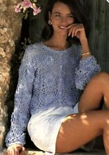 """Easy Crochet Pattern For A Lovely Flower Lace Summer Ladies Cardigan 34""""-40"""""""