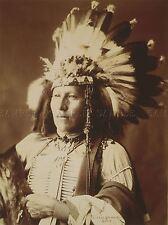 Foto Sepia Indio Nativo las Primeras Naciones poco Soldado Sioux Cartel lv3560