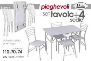 Tavolo Pieghevole Con Sedie A Set Di Tavoli E Sedie Acquisti Online Su Ebay