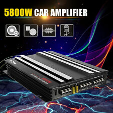5800W 4 Channel 4Ohm Car Stereo Audio Power Amplifier Super Bass Subwoofer Amp