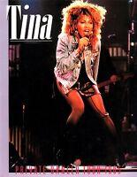 TINA TURNER 1985 PRIVATE DANCER WORLD TOUR CONCERT PROGRAM BOOK / NMT 2 MINT