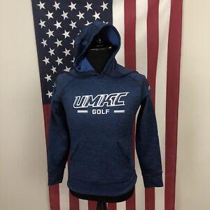 Adidas UMKC Roos Golf Hoodie Sweatshirt men SMALL Kansas City Blue Heather 1e560