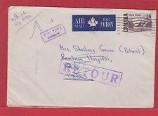 15 cent Centennial 1971 ** ISRAEL ** airmail INCONNU  RETOUR RETURN Canada cover