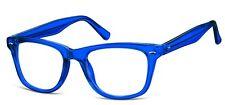 Mens Designer Glasses Frames - Including Anti Glare Coated Lenses - Blue