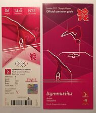 Billete de Londres 2012 Olímpico Gimnasia Artística 6 guía de agosto & espectador * como Nuevo *