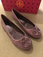 Tory Burch RARE Taupe Embossed Reva Flats Sz 10.5 w/ Box Retail $250 SOLD OUT