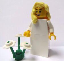 Lego Bride Minifigure  Female Girl Maid  Blonde Wavy Hair Wedding White