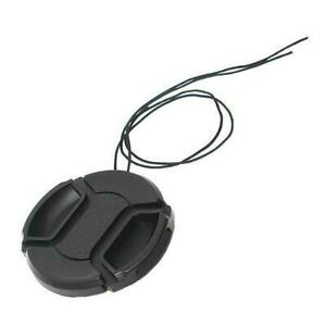 55mm Front Lens Camera SLR Cap Protection Cover Dust String With Cover N1W5
