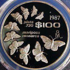 Mexico 1987-Mo 100 P Monarch Butterflies, DCAM PCGS PR 69