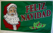 Feliz Navidad Flag 3' X 5' Indoor Outdoor Merry Christmas Santa Banner