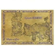 """New Game of Thrones Westeros & Essos Antique Style Map Art Poster Print 24""""x36"""""""