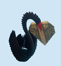 Hand-made Black 3D Origami Swan - Great Gift !!!