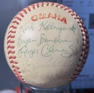 1983 TEXAS LONGHORNS COLLEGE WORLD SERIES CHAMPIONS TEAM SIGNED BALL JSA LOA