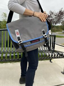 TIMBUK 2 LARGE Grey And Blue  / BALLISTIC NYLON / Commute / LAPTOP BAG.