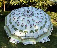 Baumwolle Garten Regenschirm Sonnenschirm Grün Palm Tree Indisch Außen Schirm