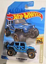 2019 Hot Wheels Blue '17 Jeep Wrangler #13 Case Q Baja Blazers