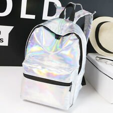WOMEN HOLOGRAPHIC CELEBRITY BACKPACK COLLEGE GIRLS SCHOOL SHOULDER RUCKSACK BAG