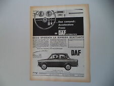 advertising Pubblicità 1964 DAFFODIL DAF FODIL