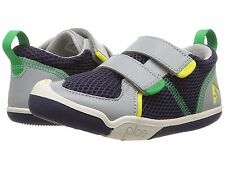 Boys Mesh PlAE Sneakers/ Casual Shoes Navy Blue/ Green Boys Size 12
