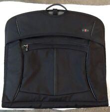 "Victorinox Swiss Army Black Bifold Garment Bag 22"" Travel Luggage Carry-On strap"