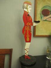 Vintage Folk Art Painted Wood Deco Cigarette Girl Hotel Bar Standing Ashtray!